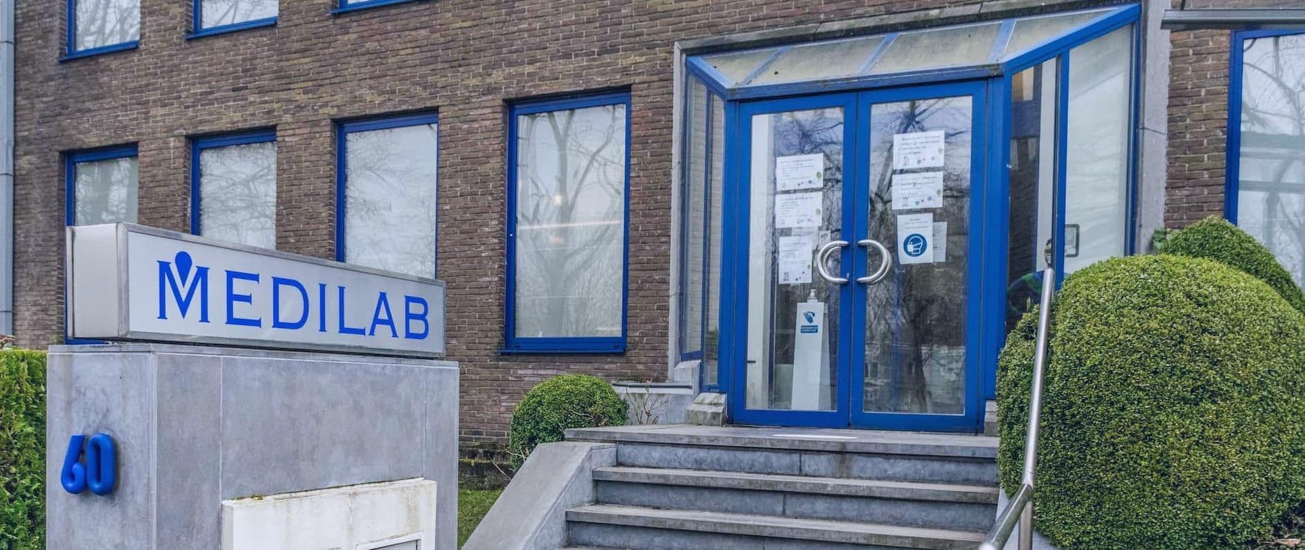 Ingang van Medilab gebouw